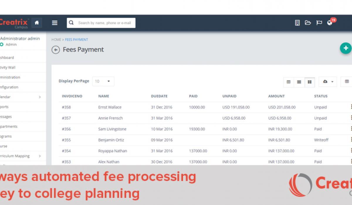 Fee Processing