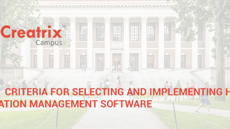 10 criteria for selecting and implementing higher education management software