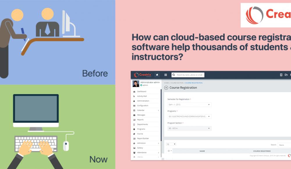 Cloud-based course registration