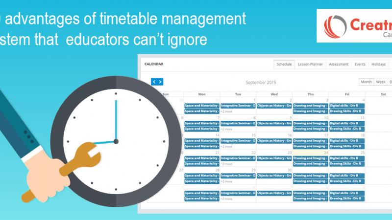 Timetable management system
