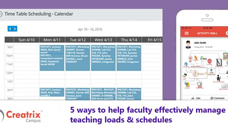 5 ways to help faculty effectively manage teaching loads & schedules